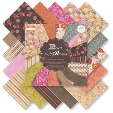 "TrimCraft First Edition 6x6"" Paper Pad - Desert Blooms TASTER"