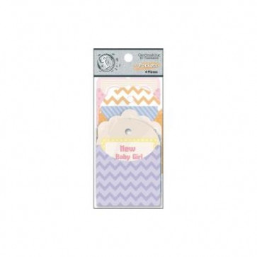 "Ruby Rock-It Fundamentals Cardmaking Pockets 2.25x3.25"" 4/Pkg - Baby"
