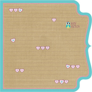 "Kraft Kuts Die-Cut Paper 12x12"" - Girl Journal"