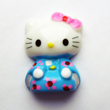 Beyond Visions Resin Pynt - Hello Kitty Blå Kimono