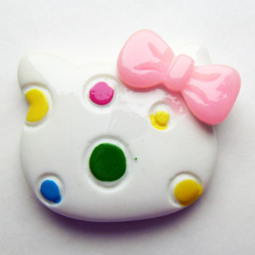 Beyond Visions Resin Pynt - Hello Kitty Hoved Dot