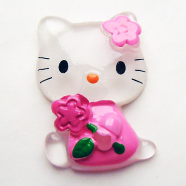 Beyond Visions Resin Pynt - Hello Kitty Med Blomst