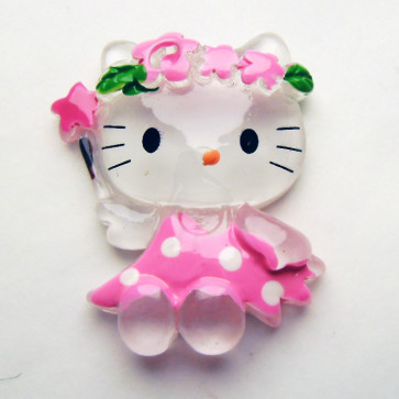 Beyond Visions Resin Pynt - Hello Kitty Blomsterfe