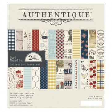 "Authentique Double-Sided Cardstock Pad 6x6"" 24/Pkg Homestead"