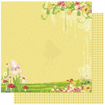 "Best Creations Fairy 12x12"" Enkeltsidet Glitter Cardstock - Fairyland-Left"