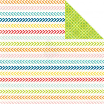 """Echo Park Perfect Summer Double-Sided Cardstock 12x12"""" - Chevron Lines"""