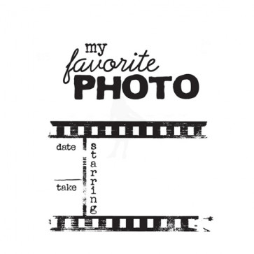 Itty Bitty Unmounted Rubber Stamp - Photo Strip - Favorite Photo