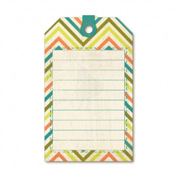 My Mind's Eye Indie Chic Citron Cardstock Journaling Card - Citron Party