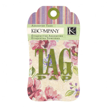 Watercolor Bouquet Tag Pad TASTER