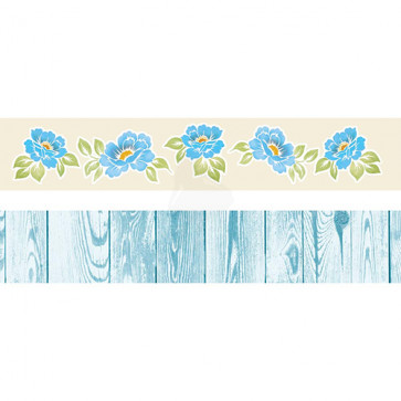"Galeria Papieru Colorful Meadow Pynte Strips 2x12"" - Blue"