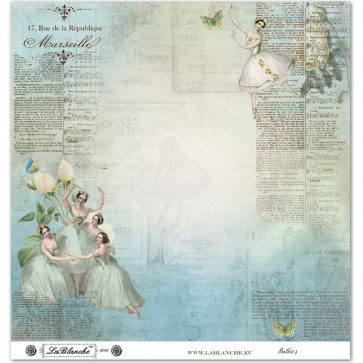 "LaBlanche Papers ""Ballet"" 04 Dobbeltsidet 12x12"""