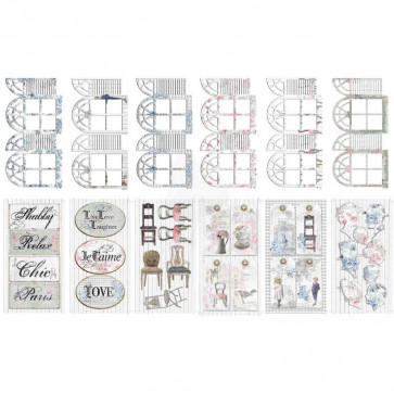 Shabbylicious Journal Pre-Cuts Pakke med 12 Designs