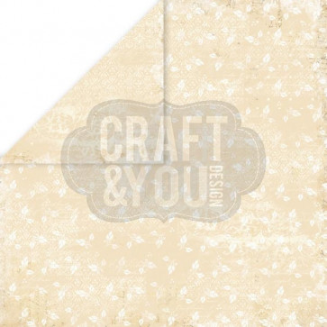 "Craft & You Design My Wedding Dobbeltsidet Cardstock 12x12"" Paper - 01"