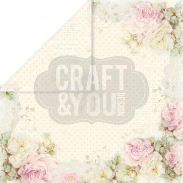 "Craft & You Design My Wedding Dobbeltsidet Cardstock 12x12"" Paper - 02"