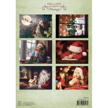 Nellie's Vintage A4 Ark Christmas Time 3