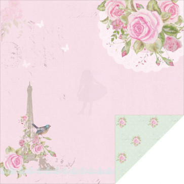 "KaiserCrafts True Romance 12x12"" Dobbeltsidet Cardstock - Day Dream"