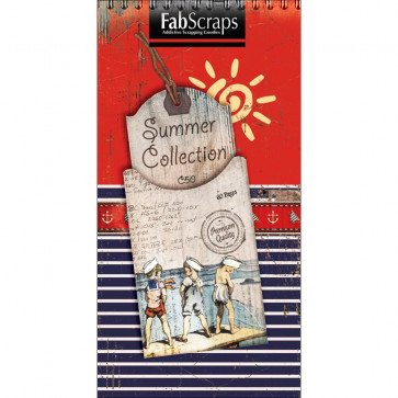 "FabScraps Summer Journal Die-Cut Pad 8x4"" - Tags, Shapes & Pages TASTER"