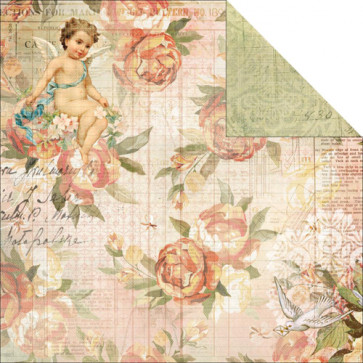 "KaiserCrafts Sweet Nothings 12x12"" Dobbeltsidet Cardstock - Love Letters"