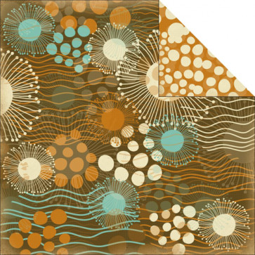 "KaiserCrafts Rock Pool 12x12"" Dobbeltsidet Cardstock - Reef"