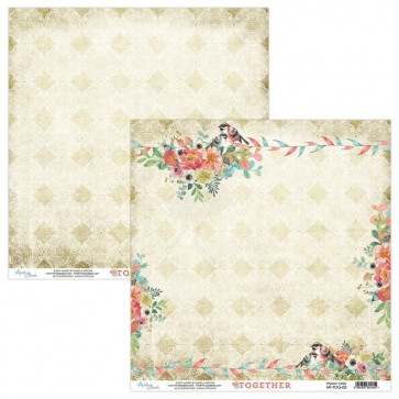 """Mintay Together Double-Sided Cardstock 12x12"""" Design 3"""