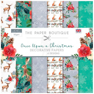 "The Paper Boutique 6x6"" Paperpad Once Upon A Christmas TASTER"