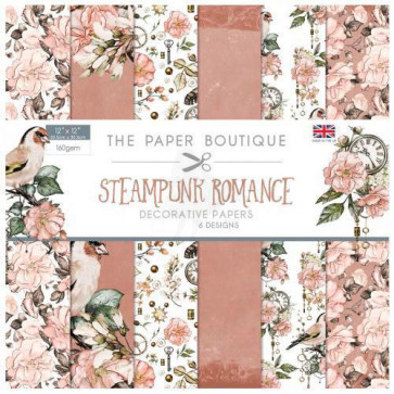 """The Paper Boutique 6x6"""" Paperpad Steampunk Romance TASTER"""