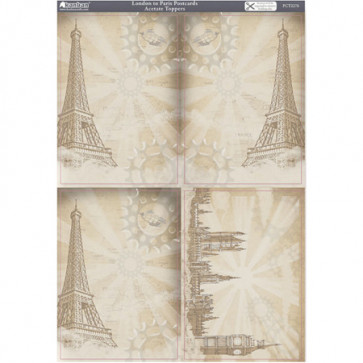 A4 Kanban Acetate Toppers - London to Paris Postcards