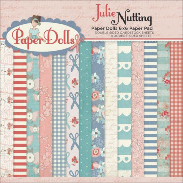"Photo Play Double-Sided Paper Pad 6x6"" Julie Nutting Paper Dolls TASTER"