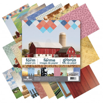 """Paper House Double-Sided Paper Pad 12""""X12"""" 24/Pkg On The Farm"""