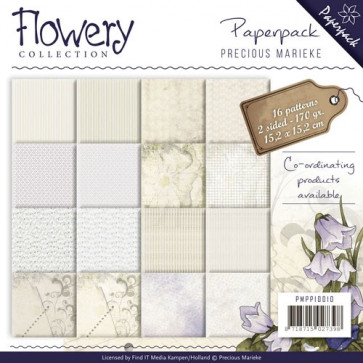 "Find It Flowery Collection 6x6"" Paperpack - Precious Marieke TASTER"