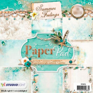 "StudioLight Enkeltsidet Paper Pad 6x6"" - Summer Feelings TASTER"