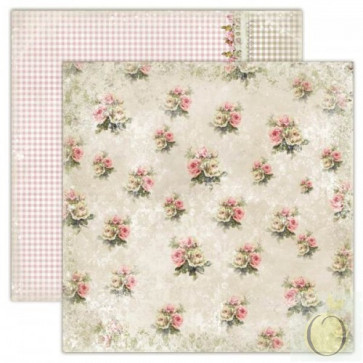 "LemonCraft 12x12"" Dobbeltsidet scrapbooking papir, House Of Roses - Old-Fashioned Dress"