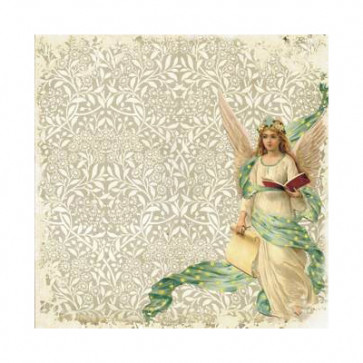 "Decorer Julepapir 8x8"" - Angels 1"