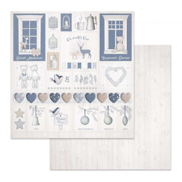 """Stamperia Double-Sided Cardstock 12x12"""" Christmas Decorations"""