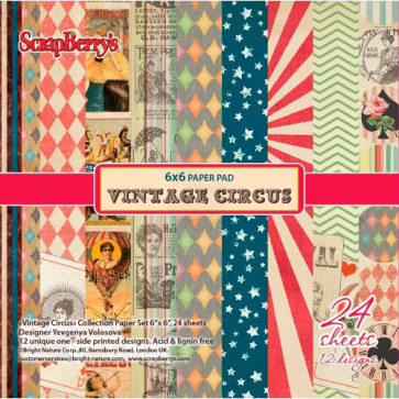 ScrapBerry's Vintage Circus Paper Pack 6x6""