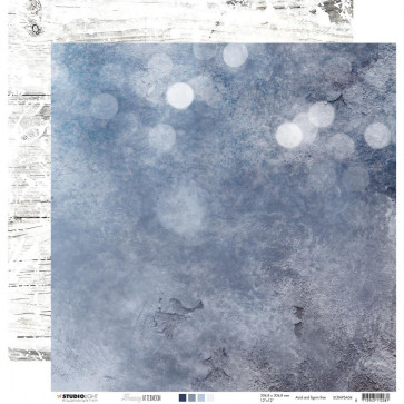 "StudioLight Snowy Afternoon Double-Sided Cardstock 12x12"" NR. 04"