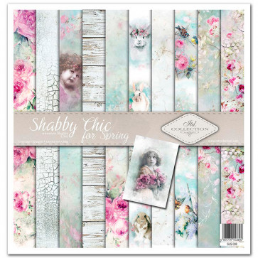 """ITD Collection 12x12"""" Scrapbooking Sæt Shabby Chic For Spring"""
