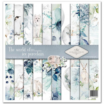 """ITD Collection 12x12"""" Scrapbooking Sæt The World Of Ice Porcelain"""