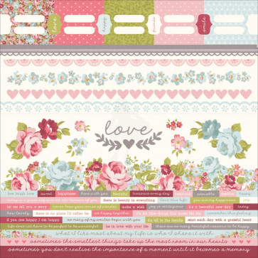 KaiserCraft Secret Garden Cardstock Stickers 12x12""