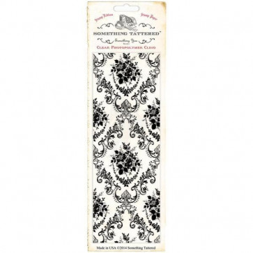 "Something Tattered Wallpaper Background Clear Stamp 3x8"" - Parlor Rose Damask"