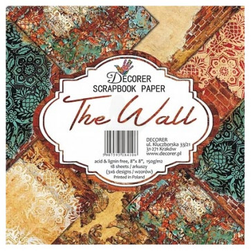"Decorer Papir Pakke 8x8"" - The Wall TASTER"