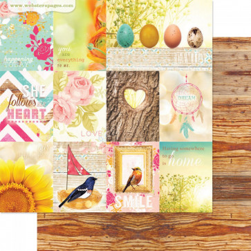 """Webster's Pages Nest Double-Sided Cardstock 12x12"""" - Home With You"""
