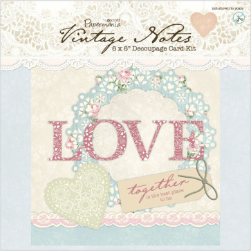 "Papermania Vintage Notes 6x6"" Decoupage Card Kit"