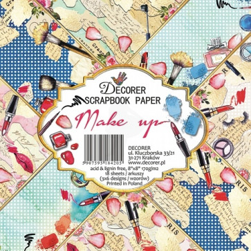 "Decorer Papir Pakke 8x8"" - Make Up TASTER"