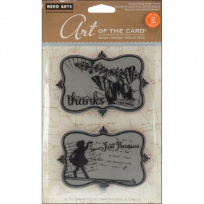 "Hero Arts Art Of The Card Cling Stamps 4x6"" - Just Because"