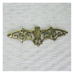 Halloween Flying Bat Connector - Antik Bronze Tone