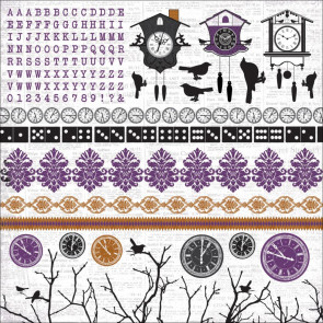 KaiserCraft 13th Hour Cardstock Stickers 12x12""