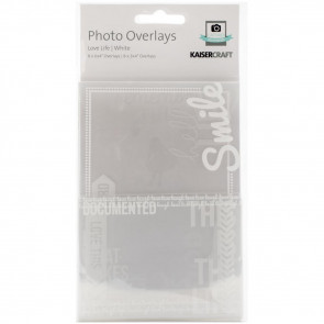 Kaisercraft Photo Overlays 16/Pkg Love Life