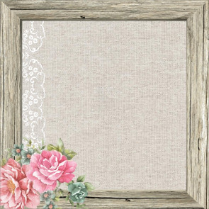"KaiserCraft Oh So Lovely Spot Varnish Cardstock 12x12"" Mademoiselle Frame"