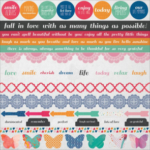 KaiserCraft Chase Rainbows Cardstock Stickers 12x12""